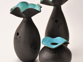 Coil-built vessels based on plant life